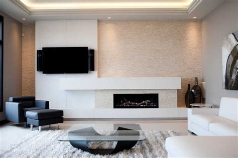 Synthetic Rugs by Modern Concrete Fireplace Surround Modern Living Room