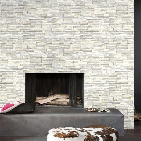 tapisserie pour bureau papier peint intissé brique marbre blanc leroy merlin