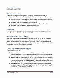 performance test plan sample 1 With performance test strategy template