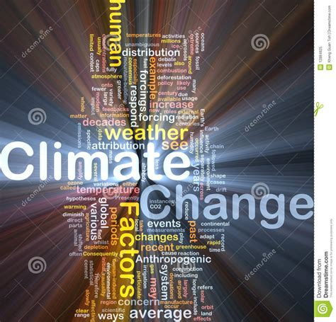 climate change background concept glowing stock