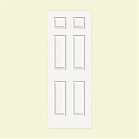 doors interior home depot jeld wen 36 in x 80 in colonist white painted textured