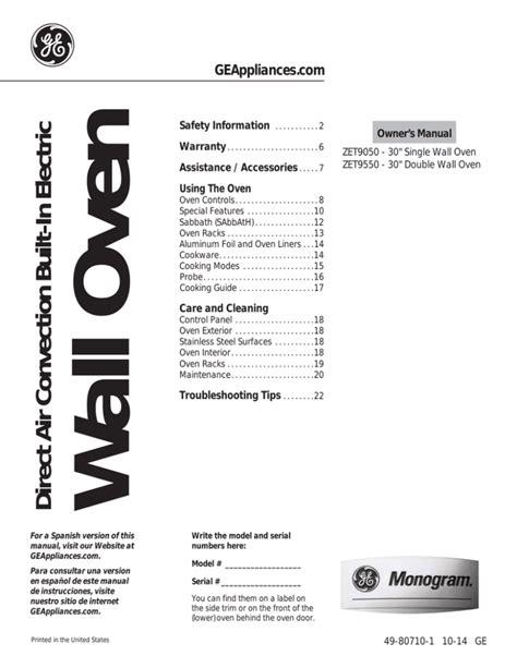 monogram zetshss user guide manualzz