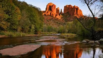 Arizona Sedona Rock Desktop Backgrounds Creek Beauty