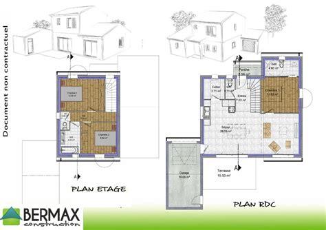 plan maison 4 chambres etage plan de maison contemporaine avec etage ventana