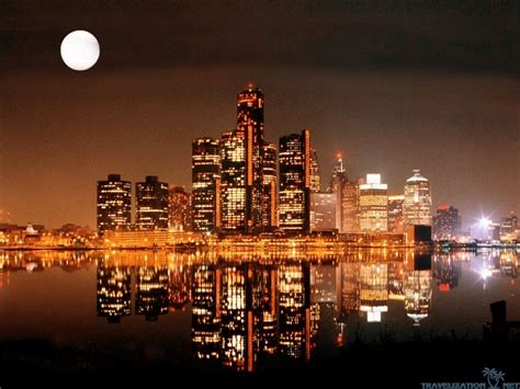 detroit skyline wallpaper wallpapertag