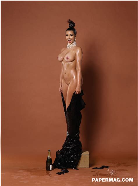 Kim Kardashians Entire Body Is Naked In These Paper Mag