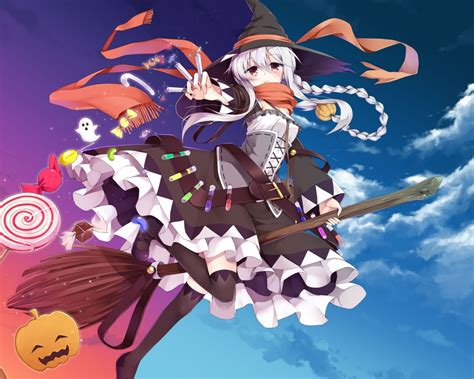 Anime Girl Witch Wallpaper Anime Girl Witch Www Pixshark Com Images Galleries