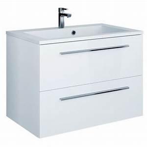 Meuble Sous Vasque Blanc : meubles sous vasque 80cm dans salle de bain achetez au meilleur prix avec ~ Teatrodelosmanantiales.com Idées de Décoration