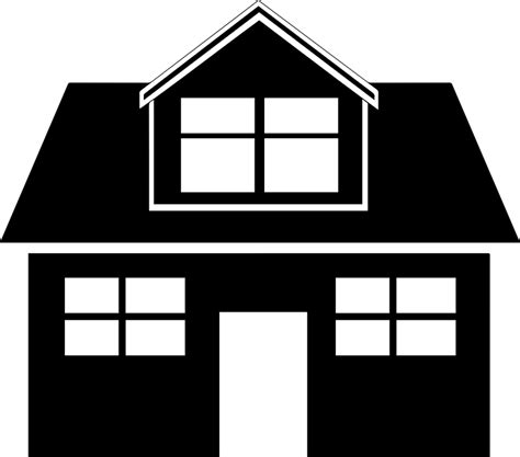 black home house  vector graphic  pixabay
