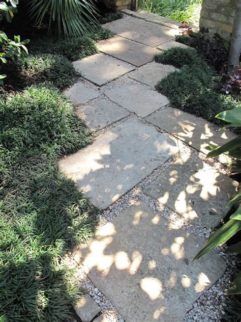 stone  concrete pavers   garden path side yard
