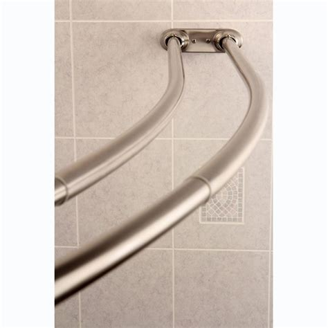 curved adjustable shower curtain rod in satin nickel