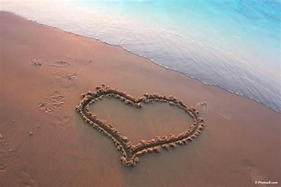 Heart Write Sand Beach Letter Massage Why