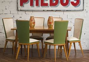 vintage chairs 195039s chairs 1950 vintage dining table With table salle a manger vintage