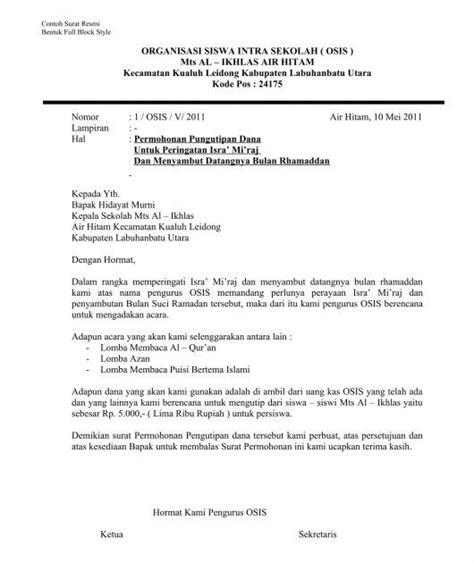 contoh surat resmi dan tidak resmi bhs inggris contoh surat resmi dalam bahasa inggris contoh surat rasmi
