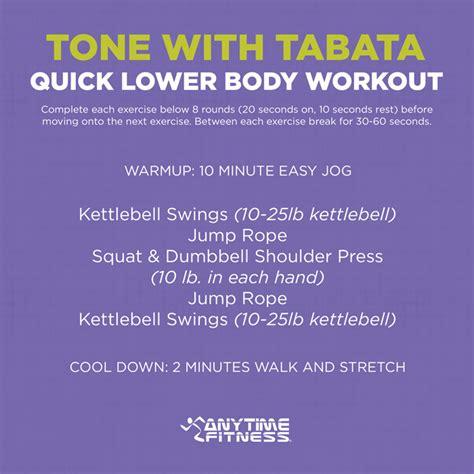 tabata workout tone lower body quick leg anytime tabatas