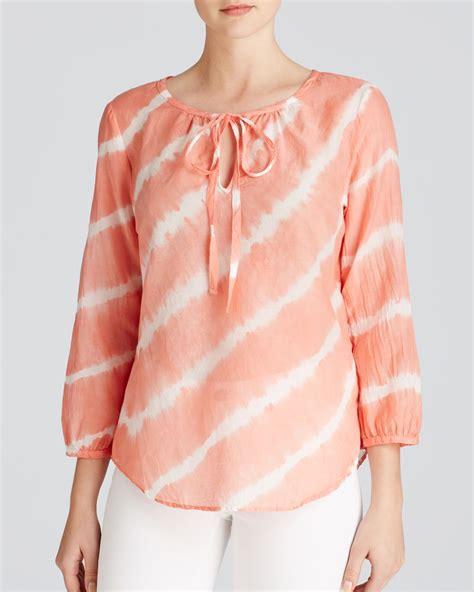 tie dye blouse velvet by graham spencer blouse tie dye stripe in pink