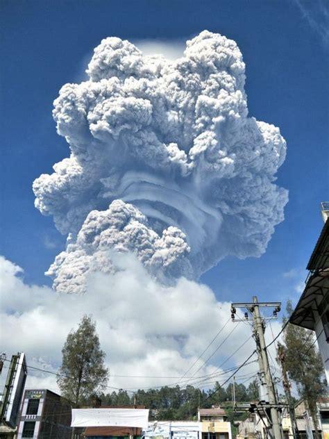 eruption   volcano sinabung   indonesian