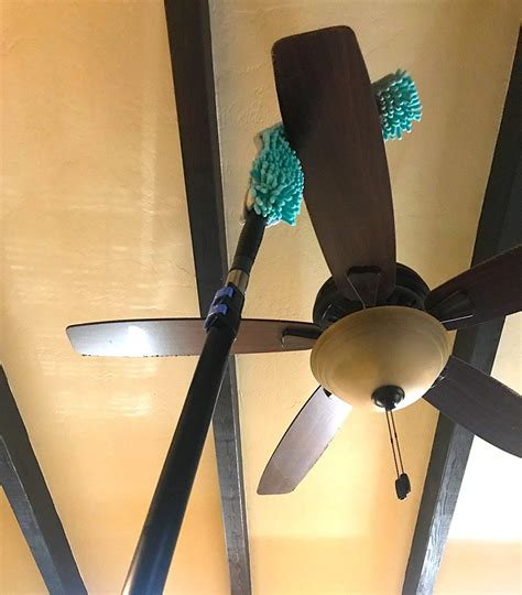 Flexible Microfiber Ceiling Fan Duster With Extension Pole