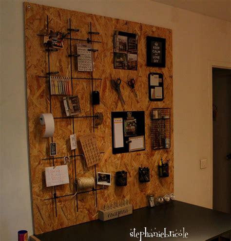 rangement mural bureau diy déco rangement panneau mural en osb keep calm