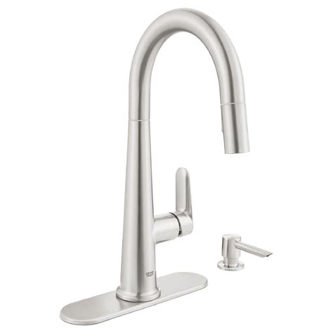 grohe feel kitchen faucet grohe feel supersteel infinity pull kitchen faucet