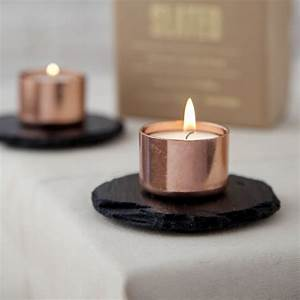 Copper, And, Slate, Candle, Holder, By, Slated