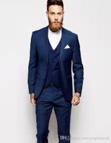cheap mens suits for weddings 2016 new arrival tuxedos blue wedding suits for 3 pieces suits slim fit moning groms