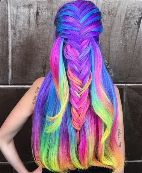rainbow hair color pictures colored hair trends