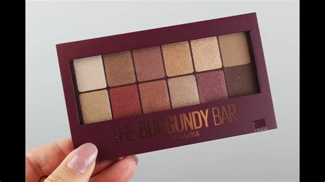 maybelline 24k maybelline the burgundy bar eyeshadow palette swatches