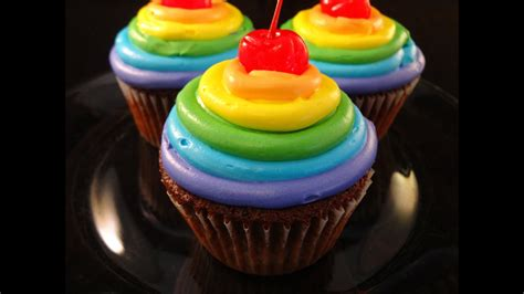 rainbow frosted chocolate cupcakes collaboration