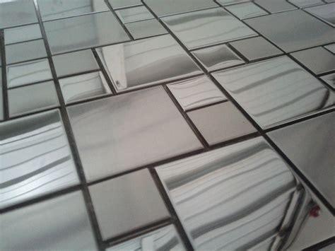 stainless steel backsplash squares medallionsplus
