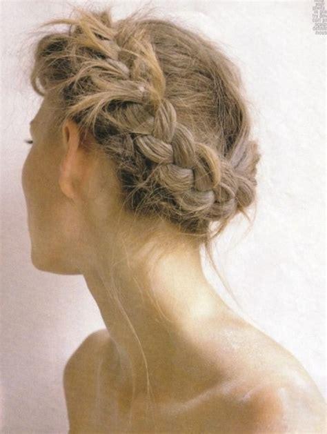 coachella hair how to do the milkmaid braid