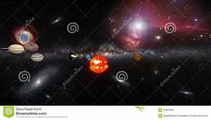 Solar System With Milky Way Galaxy And Many Other Royalty ...