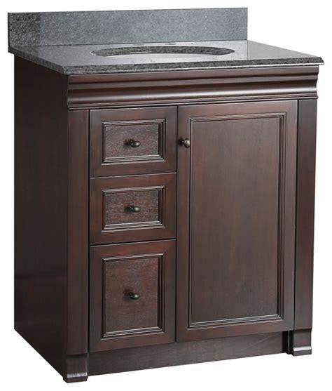 transitional bathroom vanity cabinets shawna tobacco bathroom vanity 30 quot left drawers