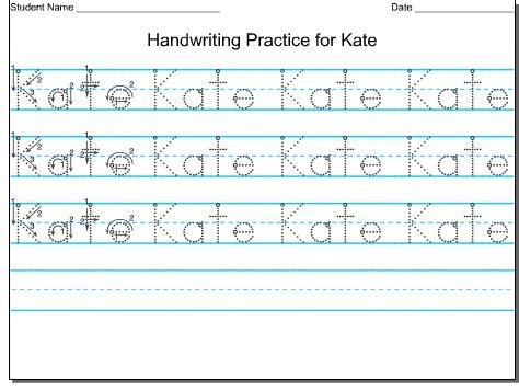 worksheets for preschoolers writing name free printable