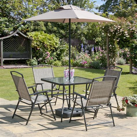 Outside Garden Furniture by Oasis Patio Set Outdoor Garden Furniture 7 Folding