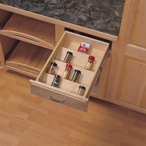 kitchen drawer spice rack organizer knape vogt 1 81 in x 10 125 in x 19 5 in wood spice 8052