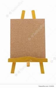 Memo Paper Cork Board With Wooden Stand Picture