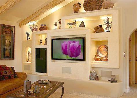 breathtaking gypsum board  niches  tv wall unit