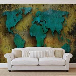 Carte Du Monde En Bois : carte du monde sur le bois poster mural papier peint acheter le sur ~ Teatrodelosmanantiales.com Idées de Décoration