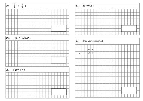 Ks2, Year 6 Sats Style Arithmetic Test (a Teaching Resource With New Curriculum Requirements In