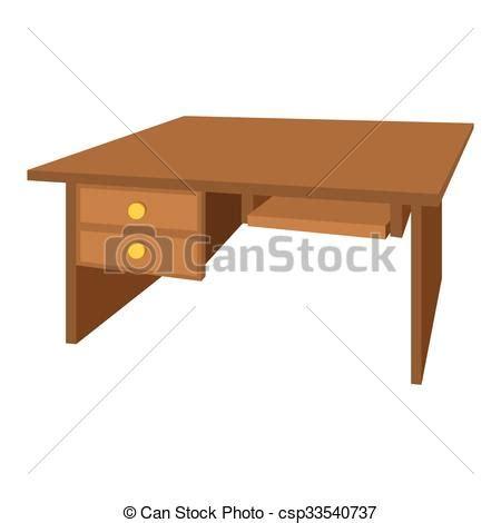 icones bureau vecteurs de bureau bois dessin animé bureau icône