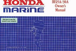 Honda Bf25 Bajl 1000001 1999999 Owners Manual
