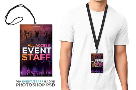 Staff Badge Template by Higher Worship Vip Pass Vip Pass Psd Templates And Template