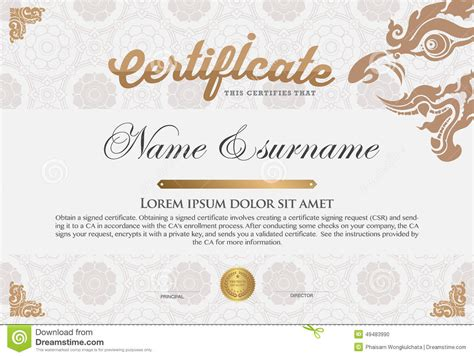 certificate design certificate design template stock vector illustration of antique formal 49483990