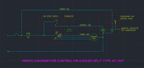 wiring diagram  control air cooled split type ac unit
