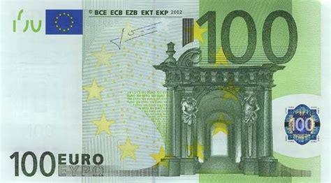 canap 100 euros le monete e la banconote dell 39