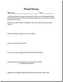 Parent Survey Questions