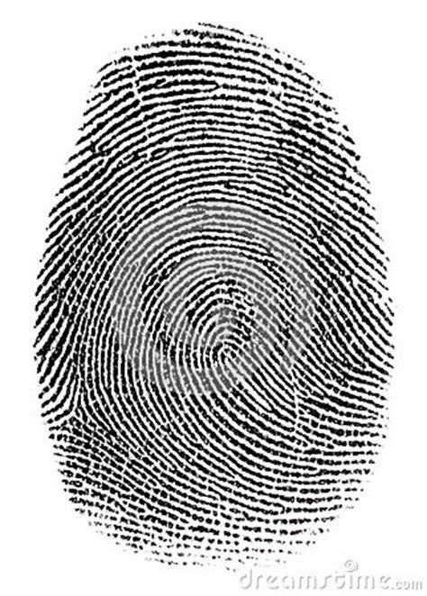 real fingerprint stock photography image