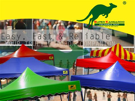 super kangaroo foldable tent pop  gazebo foh hin canvas sdn bhd   shade
