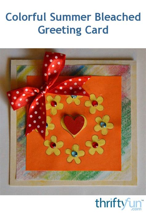 colorful summer bleached greeting card thriftyfun